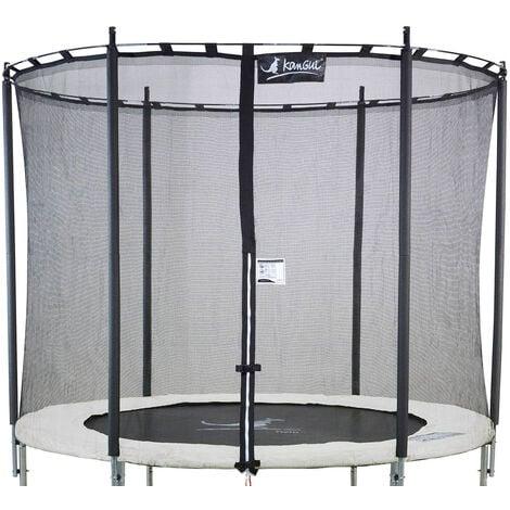 Kangui - Filet de sécurité Ø 244cm trampoline rond - Noir