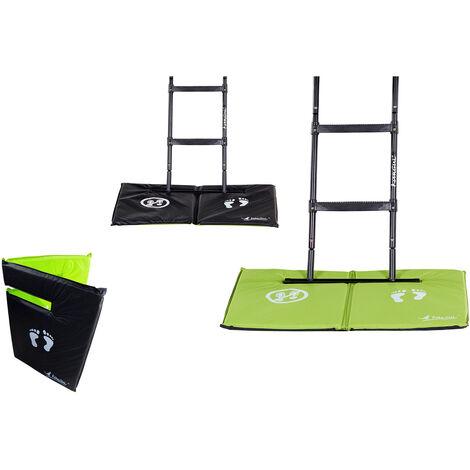 Tapis de sol universel pour trampoline - Réversible noir ou vert - Vert