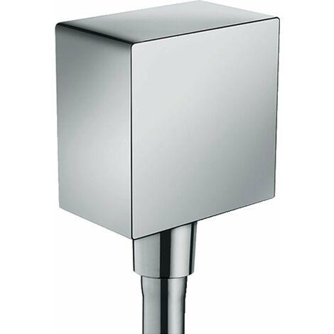 raccord de tuyau Axor Starck FixFit de taille artisanale avec disconnecteur et cornière en plastique, Coloris: chrome - 26455000