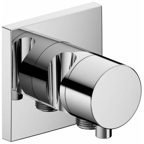Accesorio Keuco IXMO 59557, válvula de cierre y conmutación de 2 vías con conexión de manguera y soporte para ducha, empotrable, maneta Comfort, color: Cromado - 59557011202