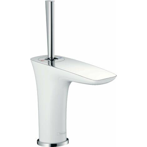 Hansgrohe PuraVida Mezclador monomando de lavabo DN15 para lavabo, color: Blanco / Cromo - 15075400
