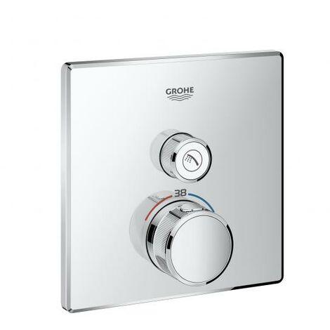 El termostato Grohe Grohtherm SmartControl con una válvula de cierre, color: cromado - 29123000