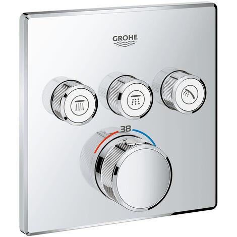 El termostato Grohe Grohtherm SmartControl con tres válvulas de cierre, color: cromado - 29126000