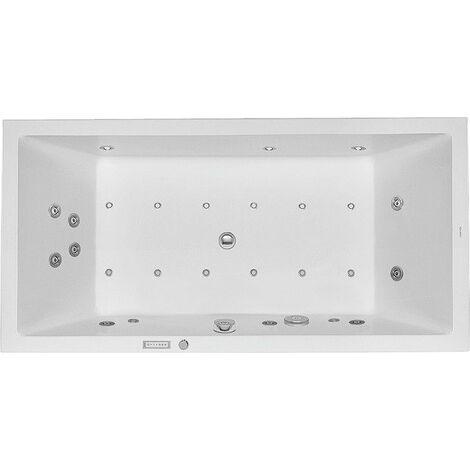 bañera de hidromasaje Duravit Starck 1800x900mm versión empotrada con dos inclinaciones del respaldo, Combisystem E - 760052000CE1000