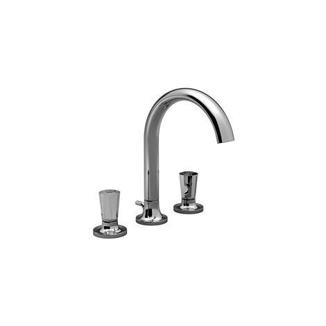Villeroy & Boch LA FLEUR exclusivo mezclador de lavabo de tres agujeros, mangos de strass, cristalino, cromado 20722956-00 - 20722956-00