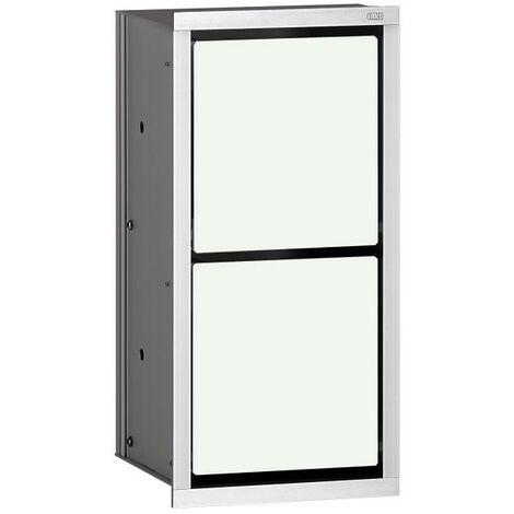 Módulo Emco asis Módulo de papel 150 WC modelo empotrado, color: aluminio/blanco óptico - 972527421