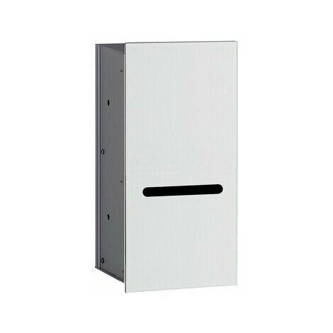 Módulo de papel WC Emco asis 2.0 - modelo empotrado, bisagra de puerta a la izquierda, color: aluminio/blanco óptico - 972427422