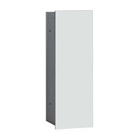 Emco asis módulo 2.0 Conjunto escobillero modelo empotrado, 1 puerta, color: aluminio/blanco óptico - 973427431