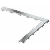 Tapa de la línea de drenaje TECEdrainline de acero II para el canal de ángulo de 90°, 611082, 1000mm, pulido. - 611082