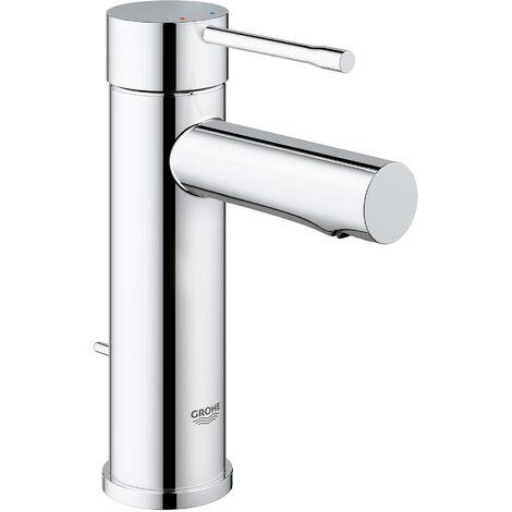Miscelatore monocomando per lavabo Grohe Essence DN 15, dimensione S, installazione monoforo, con scarico - 32898001