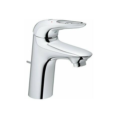 Miscelatore monocomando per lavabo Grohe Eurostyle, dimensione S con scarico a scomparsa, maniglia a leva aperta, Zero - 23564003