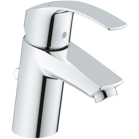 Grohe Eurosmart Miscelatore monocomando per lavabo, dimensione S con scarico a scomparsa, per scaldabagni ad acqua aperta - 23459002