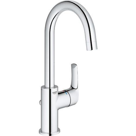 Miscelatore monocomando per lavabo Grohe Eurosmart, dimensione L con scarico a scomparsa, con bocca girevole - 23537002