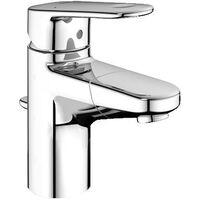 Miscelatore monocomando per lavabo Grohe Europlus DN 15, grandezza S, con scarico, bocca di erogazione estraibile - 33155002