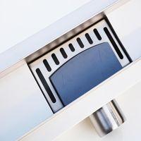 Caniveau de douche italienne Inox - 90 cm - argent
