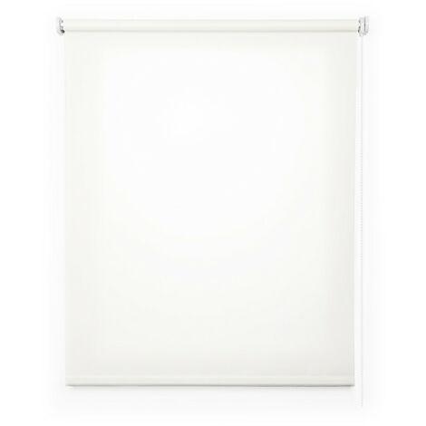 Estor enrollable traslúcido liso, Blanco 180x250cm