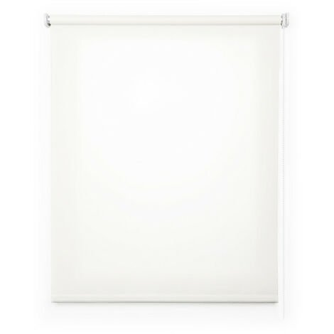 Estor enrollable traslúcido liso, Blanco 45x180cm