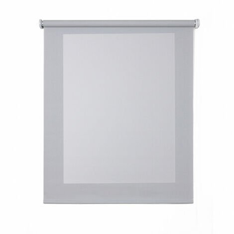 Estor Screen, estor enrollable con tejido técnico Gris, 90 x 180cm