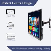 Support TV Mural Inclinable et Pivotant Pour Écrans de 22-50'' VESA 100x100 - 400x400mm pour Sony, Samsung, LG