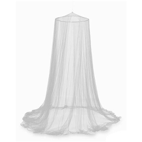 Moustiquaire Dome Repulsif Tente Lit Rideau Moustiquaire elegante, Blanc