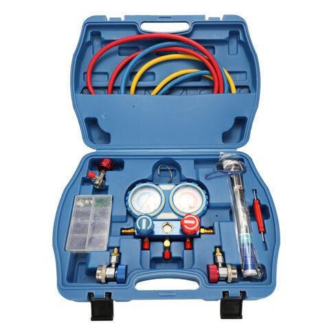 Climatiseur de voiture avec jauge de fluorure, manometre, thermometre avec batterie livre YS023