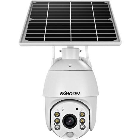 Surveillance adistance de la camera de securite de la batterie solaire sans fil 1080P HD (batterie non incluse)
