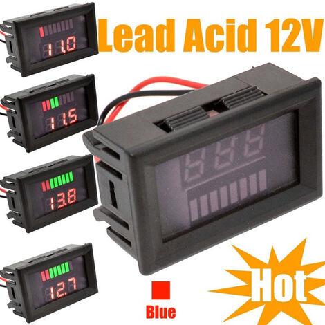 Jauge de carburant de vehicule electrique, jauge de carburant de batterie au lithium de batterie, jauge de carburant a usage general rouge 12-60V