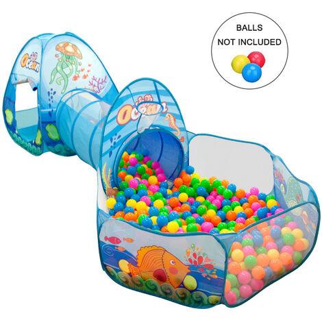Tente trois-en-un pour maison de jeux pour enfants