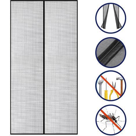 ecran de porte anti-moustique adhesif Rideau de porte d'ecran auto-adhesif Poin?onnage sans demontage Longueur: 110 * 220cm
