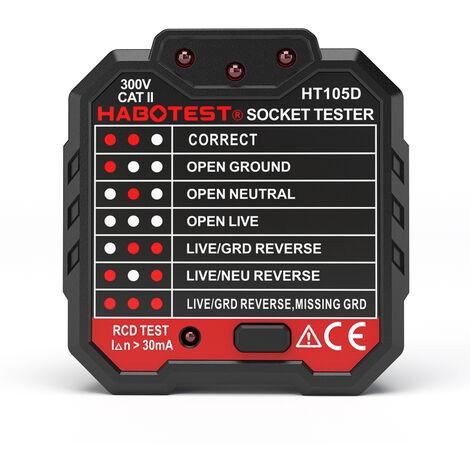 Testeur de prise de test de precision Huabo electroscope d'electricien multifonction Norme europeenne HT105D