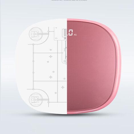 Pese-personne electronique intelligente 2901 avec ruban amesurer,bord blanc rechargeable blanc lune blanche