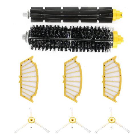 Accessoires pour robot aspirateur, iRobot Roomba 500 3 brosses d'angle + 3 filtres + un jeu de brosses acolle