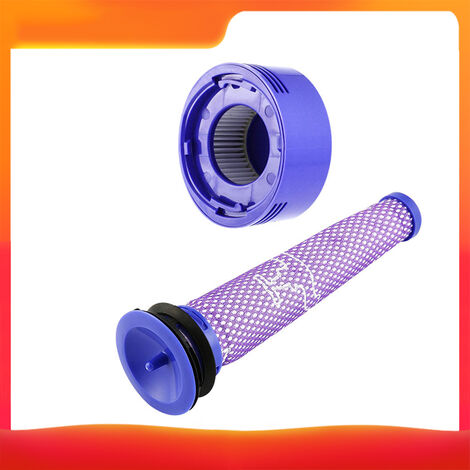 Ensemble de deux accessoires pour aspirateur Dyson (filtre avant + filtre arriere) adapte aux modeles V7 / V8 portable