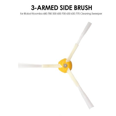 Accessoires pour balayeuse, R302 Roomba Triangle Brosse d'angle Serie 5, Serie 6 et Serie 7 Universelle
