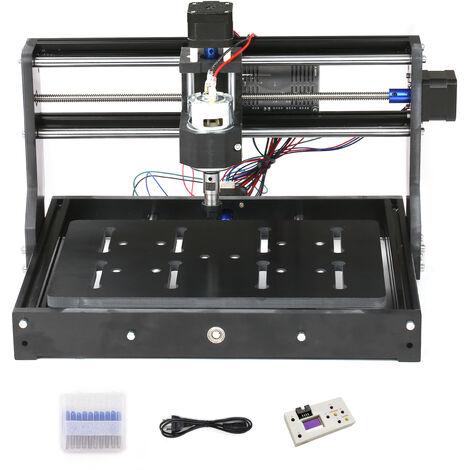 CNC3020 Mini bricolage CNC machine de gravure laser fraiseuse definie standard avec la reglementation europeenne