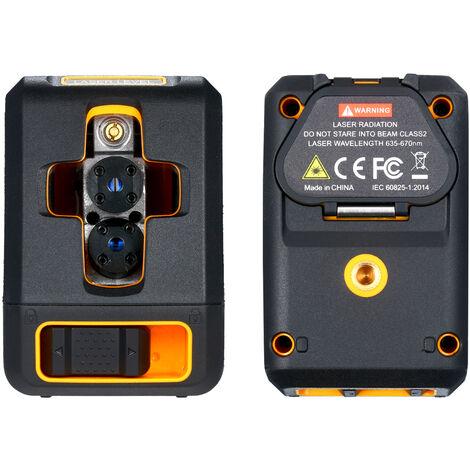 Indicateur de niveau laser, nivellement automatique en croix 4 ¡ã, haute precision, multifonction, livresans batterie, sans support, lumiere rouge