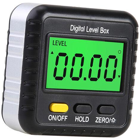 Inclinometre a affichage numerique, jauge de niveau, regle d'angle, inclinometre, outil de mesure d'angle a 360 ¡ã, sans bulles d'air