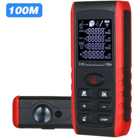 Telemetre laser numerique mini telemetre portable, 100 m expediesans batterie