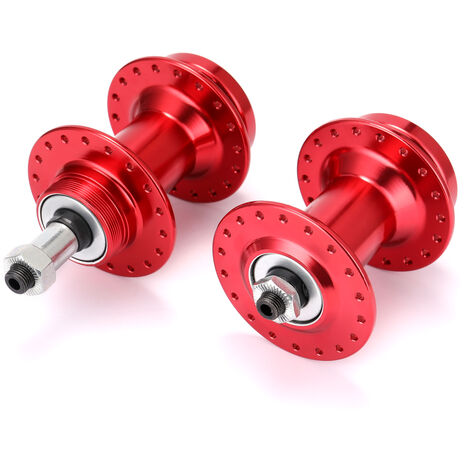Velo VTT Moyeu en alliage d'aluminium Moyeu de frein a disque Moyeu de frein a disque VTT Moyeu de frein a disque 36 Perles en vrac, une paire, Rouge