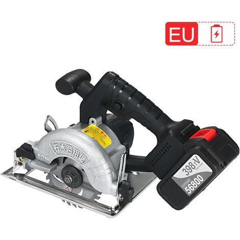 Scie circulaire a batterie au lithium scie de coupe norme europeenne, une batterie et une charge