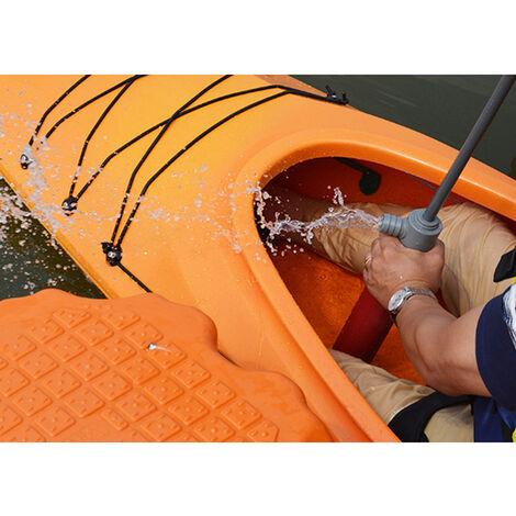 Kayak Pompe aeau manuelle Accessoires de kayak Accessoires en plastique de pompe de cale de kayak, orange