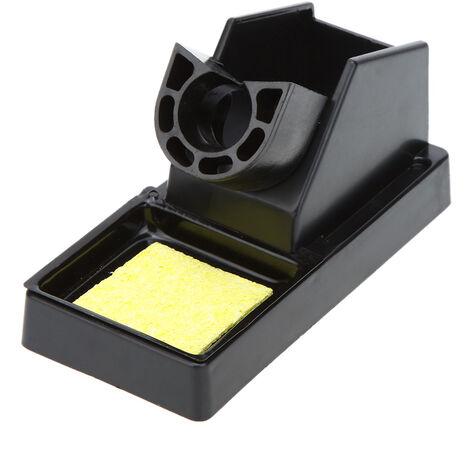 Support de fer ¨¤ souder en plastique Support de fer ¨¤ souder Support de station de soudage avec ¨¦ponge noire