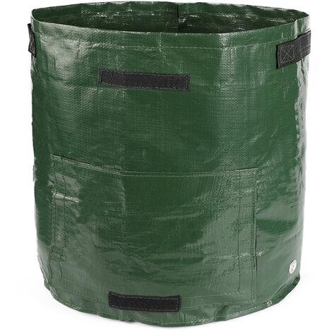 Jardinage, sac de plantation de pommes de terre / tomates, sac de culture de legumes, respirant et hydratant 220GSM / vert, 34cm x 35cm
