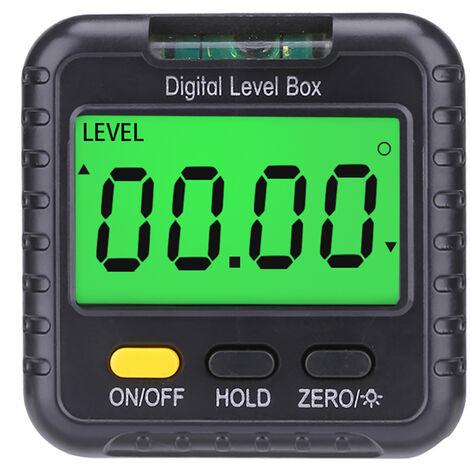 Mini rapporteur numerique portable a 360 degres, inclinometre, niveau electronique, livre sans batterie, type deux avec version a bulle horizontale