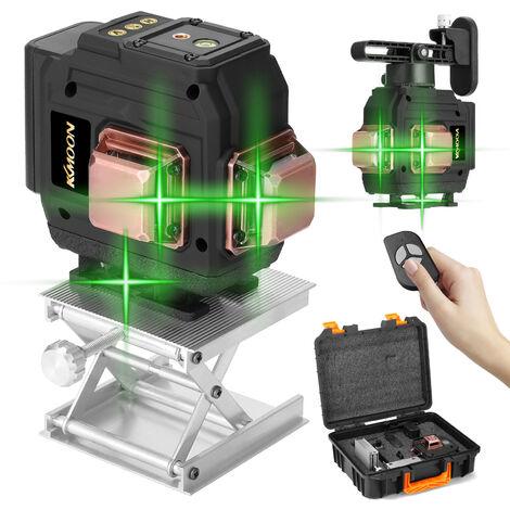 Set de niveau laser multifonction KKmoon 3D 12 lignes, norme europeenne 220V, avec batterie
