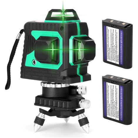Jeu de jauge de niveau laser 3D a 12 lignes Deux batteries, norme europeenne 220V