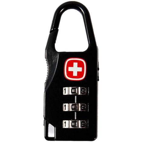 Verrouillage par code d'impression d'ecran croiseVerrouillage par code a trois dents Verrouillage des bagages Verrouillage de la valise