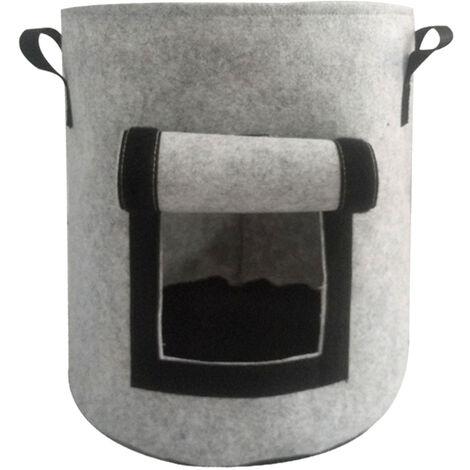 Sac de plantation de pommes de terre Sac de plantation de plantes epaississant en feutre non tisse, petit gris et 4 gallons
