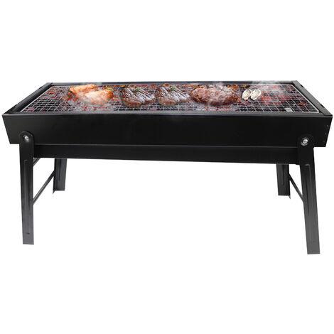 Grand barbecue exterieur / barbecue pliable portatif au charbon de bois