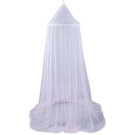 Moustiquaire suspendue dome lit simple hamac lit bebe exterieur interieur polyester moustiquaire 60 * 250 * 850 cm taille universelle,rose clair